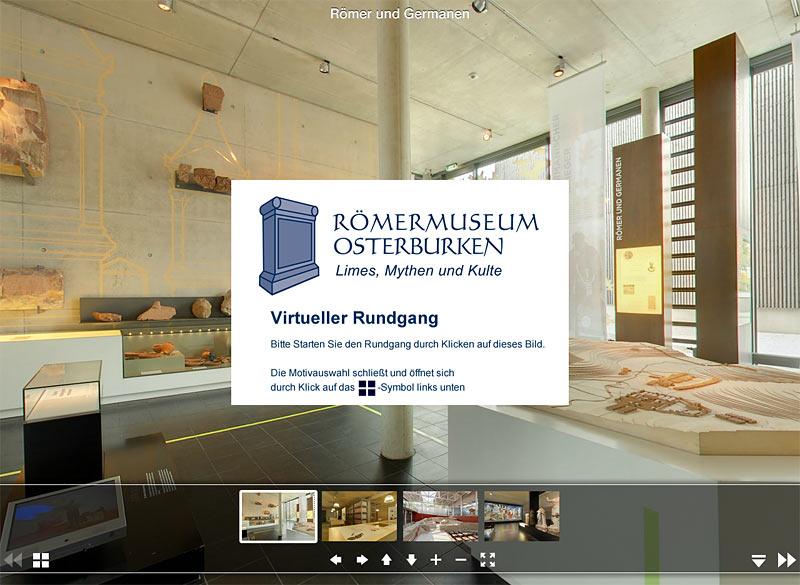 Virtueller Rundgang durch das Römermuseum Osterburken
